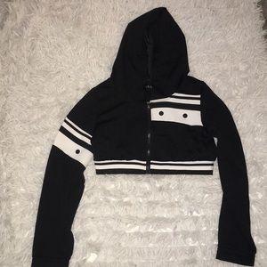 cropped hoodie jacket